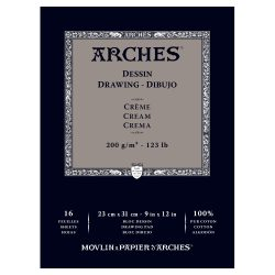 Arches Drawing pad 200gARCHES Drawing Cream Pad 200g 123lb 23x31cm 9x12in - 3700417951144..jpg