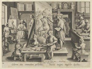 Jan Collaert I, 1600, Uppfinnandet av oljefärgen
