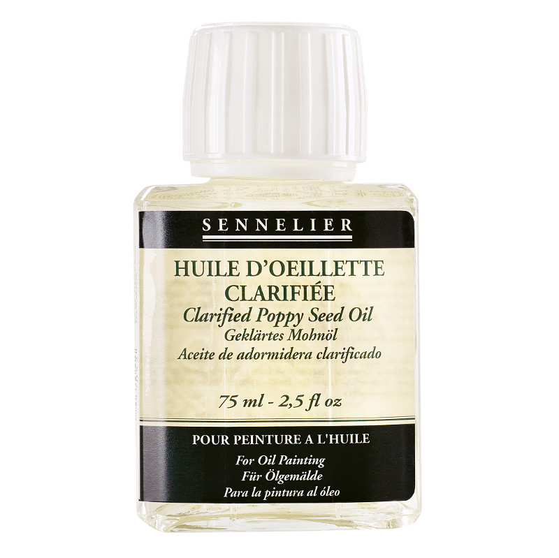 Sennelier oljemedium Clarified poppy seed oil of 75ml