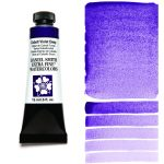 Daniel Smith Extra Fine akvarellfärg 15 ml Cobalt Violet Deep Tub & Färgprov