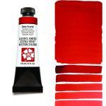 Daniel Smith Extra Fine akvarellfärg 15 ml Deep Scarlet Tub & Färgprov