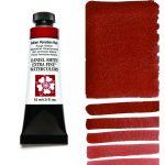 Daniel Smith Extra Fine akvarellfärg 15 ml Italian Venetian Red Tub & Färgprov
