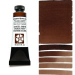 Daniel Smith Extra Fine akvarellfärg 15 ml Transparent Brown Oxide Tub & Färgprov