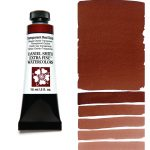 Daniel Smith Extra Fine akvarellfärg 15 ml Transparent Red Oxide Tub & Färgprov