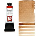 Daniel Smith Extra Fine akvarellfärg 15 ml Italian Deep Ochre Tub & Färgprov