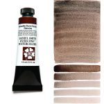 Daniel Smith Extra Fine akvarellfärg 15 ml Hematite Burnt Scarlet Genuine (Primatek) Tub & Färgprov