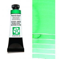 Daniel Smith Extra Fine akvarellfärg 15 ml Amazonite Genuine (Primatek) Tub & Färgprov
