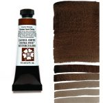 Daniel Smith Extra Fine akvarellfärg 15 ml Enviro-friendly Brown Iron Oxide Tub & Färgprov