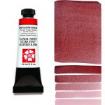 Daniel Smith Extra Fine akvarellfärg 15 ml Red Fuchsite Genuine (Primatek) Tub & Färgprov
