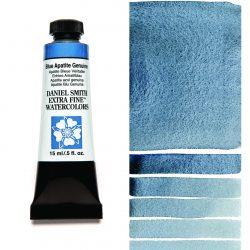 Daniel Smith Extra Fine akvarellfärg 15 ml Blue Apatite Genuine (Primatek) Tub & Färgprov
