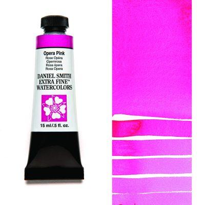 Daniel Smith Extra Fine akvarellfärg 15 ml Opera Pink Tub & Färgprov