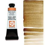 Daniel Smith Extra Fine akvarellfärg 15 ml Bronzite Genuine (Primatek) Tub & Färgprov