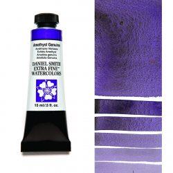 Daniel Smith Extra Fine akvarellfärg 15 ml Amethyst Genuine (Primatek) Tub & Färgprov