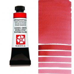 Daniel Smith Extra Fine akvarellfärg 15 ml Anthraquinoid Scarlet Tub & Färgprov