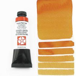 Daniel Smith Extra Fine akvarellfärg 15 ml Aussie Red Gold Tub & Färgprov