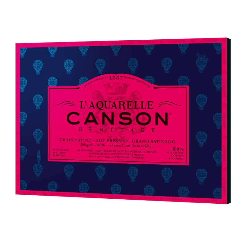 Canson Heritage Akvarellblock 20 31X41 GS 300G