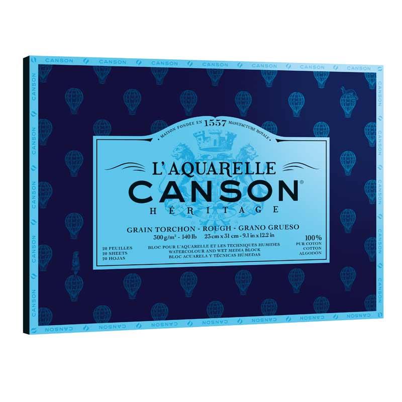 Canson Heritage Akvarellblock 20 31X41 GT 300G