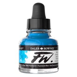 FW Artists' Ink flytande akrylbläck 29,5 ml Fluorescent Blue